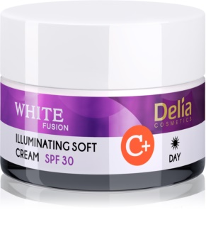 Delia Cosmetics White Fusion C+ crema giorno illumiannte per pelli iperpigmentate SPF 30