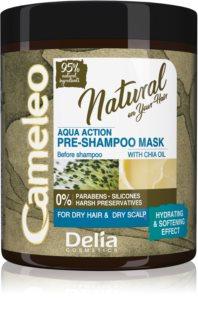 Delia Cosmetics Cameleo Natural Feuchtigkeitspflege zur Nutzuung vor der Haarwäsche für trockenes Haar