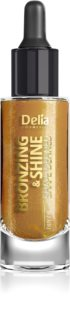 Delia Cosmetics Bronzing & Shine Shape Defined Shimmering Dry Oil for Face and Body