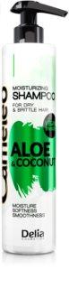 Delia Cosmetics Cameleo Aloe & Coconut hydratisierendes Shampoo für trockenes und zerbrechliches Haar