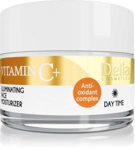 Delia Cosmetics Vitamine C + дневен озаряващ крем с хидратиращ ефект