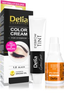 Delia Cosmetics Argan Oil фарба для брів