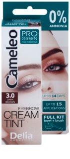 Delia Cosmetics Cameleo Pro Green краска для бровей без аммиака