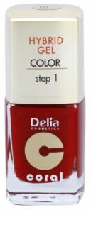Delia Cosmetics Coral Nail Enamel Hybrid Gel гелевий лак для нігтів