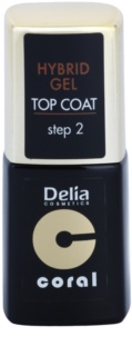 Delia Cosmetics Coral Nail Enamel Hybrid Gel τζελ τοπ βερνίκι νυχιών