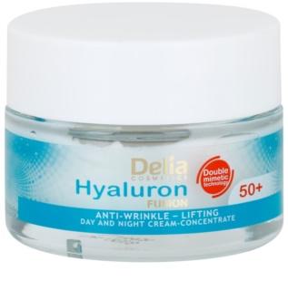 Delia Cosmetics Hyaluron Fusion 50+ συσφικτική αντιρυτιδική κρέμα