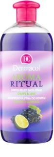 Dermacol Aroma Ritual Grape & Lime antistresová pena do kúpeľa