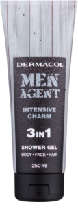 Dermacol Men Agent Intensive Charm gel doccia 3 in 1