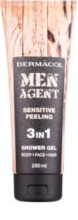 Dermacol Men Agent Sensitive Feeling душ гел  3 в 1