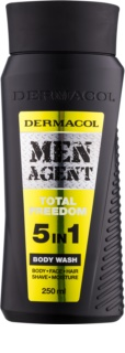 Dermacol Men Agent Total Freedom душ гел  5 в 1