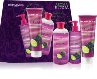 Dermacol Aroma Ritual Grape & Lime Geschenkset (für den Körper)