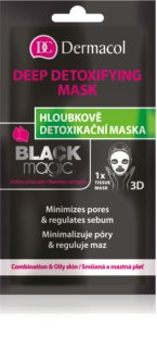 Dermacol Black Magic masque en tissu détoxifiant