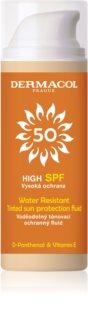 Dermacol Sun Water Resistant αδιάβροχο υγρό με χρώμα προσώπου πολύ μεγάλη προστασία απο τον ήλιο