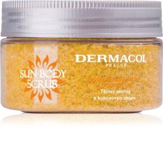 Dermacol Sun cukrový telový peeling s vôňou broskyne