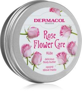 Dermacol Flower Care Rose θρεπτικό βούτηρο για το σώμα με την μυρωδιά των τριαντάφυλλων