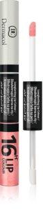 Dermacol 16H Lip Colour zweiphasige, langanhaltende Farbe und Gloss für die Lippen
