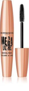 Dermacol Mega Lashes Volume & Care řasenka pro extrémní objem a intenzivní černou barvu