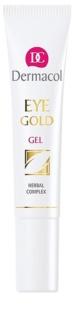 Dermacol Gold Uppfriskande gel för att behandla svullnad och mörka ringar
