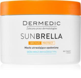 Dermedic Sunbrella Bronze Protect manteiga corporal  prolongador de bronzeado