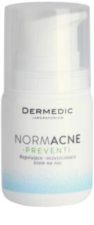 Dermedic Normacne Preventi nočna regulativna in čistilna krema za obraz