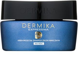 Dermika Expressima crème de nuit régénératrice anti-rides d'expression