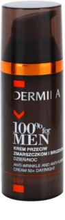 Dermika 100% for Men crema antirughe profonde 50+