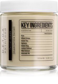 Detox Skinfood Key Ingredients masque visage hydratant et nourrissant