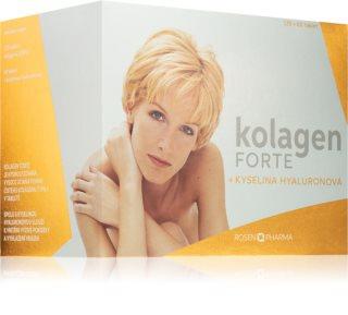 ROSENPHARMA Kolagen Forte kyselina hyaluronová doplněk stravy pro zdraví a krásu pokožky