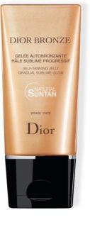 Dior Dior Bronze Self Tanning Jelly Gradual Sublime Glow samoopalovací gel na obličej