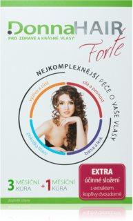 DonnaHAIR FORTE 4 měsíční kúra doplněk stravy pro zdravé a krásné vlasy