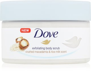 Dove Exfoliating Body Scrub Crushed Macadamia & Rice Milk Ravitseva Vartalokuorinta