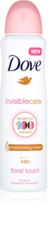 Dove Invisible Care Floral Touch antitranspirante antimanchas blancas sin alcohol