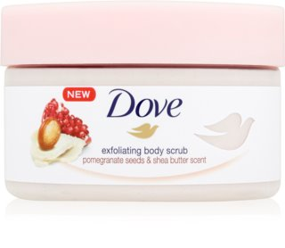 Dove Exfoliating Body Scrub Pomegranate Seeds & Shea Butter Kroppsskrubb för ny hud
