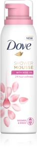 Dove Rose Oil Shower Foam 3 in 1