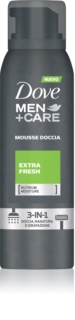 Dove Men+Care Extra Fresh mousse de douche 3 en 1