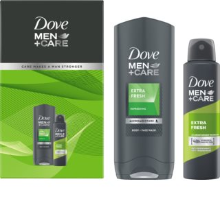 Dove Men+Care Extra Fresh σετ δώρου (για  σώμα και πρόσωπο)