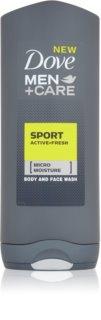Dove Men+Care Active + Fresh sprchový gél na telo a tvár