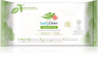 Dove Baby Biodegradable Wipes toallitas húmedas suaves para bebés