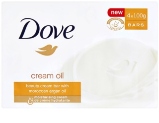 Dove Cream Oil Bar Soap With Argan Oil 4x100 g