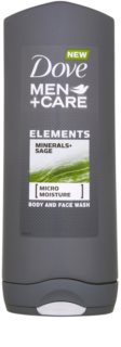 Dove Men+Care Elements Face and Body Shower Gel 2 in 1