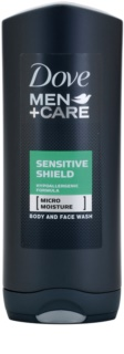 Dove Men+Care Sensitive Shield gel de banho para o corpo e rosto