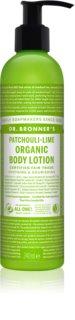 Dr. Bronner's Patchouli & Lime latte rigenerante intenso corpo