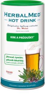 Dr.Weiss HerbalMed Hot Drink kašel a průdušky doplněk stravy pro zmírnění kašle a péči o průdušky