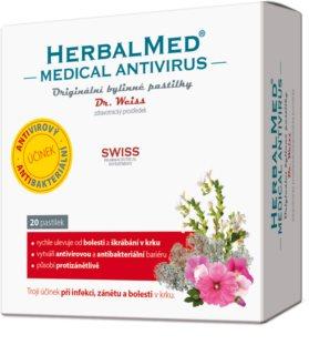 Dr.Weiss HerbalMed MEDICAL pastilky doplněk stravy pro zklidnění podrážděné sliznice krku