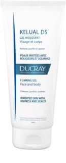 Ducray Kelual DS пенлив гел за нежно миене на раздразнена кожа за лице и тяло