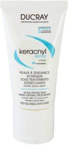 Ducray Keracnyl зволожуючий відновлюючий крем для шкіри висушеної та подразненої лікуванням акне