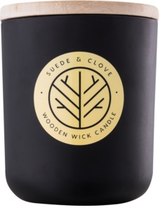 DW Home Black Suede & Clove Scented Candle 320,35 g Wooden Wick