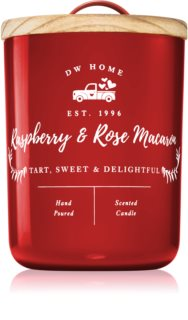 DW Home Farmhouse Raspberry & Rose Macaron scented candle