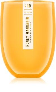 DW Home Honey Mandarin bougie parfumée avec mèche en bois