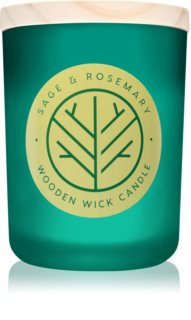 DW Home Sage & Rosemary scented candle Wooden Wick